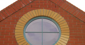 Finished Brick Circle Window